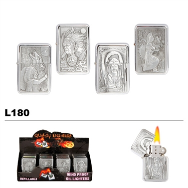 Assorted American Indian Wholesale Oil Lighters L180