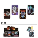 Skull Illustrations Wholesale Oil Lighters L186