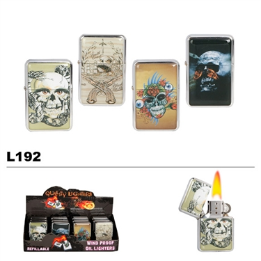 Assorted Skull Designs Wholesale Oil Lighters L192
