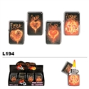 Assorted Love Designs Wholesale Oil Lighters L194