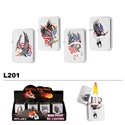 Assorted Patriotic Wholesale Oil Lighters L201