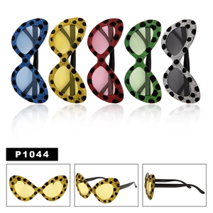Cat Eye with Polka Dots Party Glasses P1044