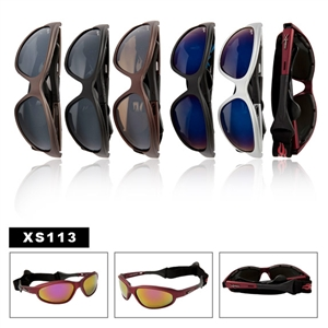 Wholesale Men's Sports Sunglasses Strap Included