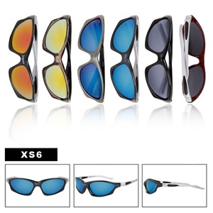 Here we have a large selection of sports sunglasses.