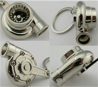 Chrome Turbo Keychain