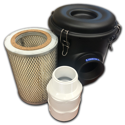 Canister Filter for Hurricane or Cyclone Vacuum Systems