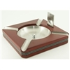 Cigar Ashtray with Guillotine Cutter: Cherry Finish