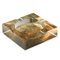 Crystal Tobacco Leaf Cigar Ashtray