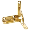 Solid Brass Quadrant Hinge Set, Humidor Hardware