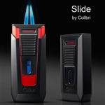 "Colibri Slide Lighter - Double-jet Flame with single action ""Push-Up"" Ignition"