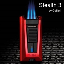 Stealth 3 Lighter by Colibri -  Triple-jet Flame Cigar Lighter