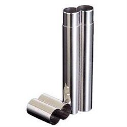 2-Finger Stainless Steel Cigar Tube