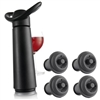 Vacu-Vin Concerto Wine Saver, Black