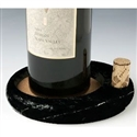 Sommelier's Black Marble Wine Bottle Coaster