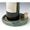 Sommelier's Marble Wine Bottle Coaster
