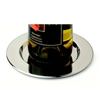 Pratique Stainless Steel Wine Bottle Coasters