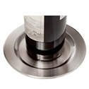 Pratique Brushed Stainless Steel Wine Bottle Coasters
