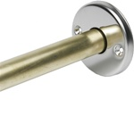 "1-1/4"" Formed, Round Exposed Wall Flange w/o Collar, Light Duty, Satin Stainless Finish - 3"" Dia."