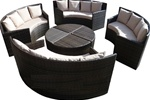 High Quality 8 Piece Outdoor Patio Sofa Set w/ Coffee Table