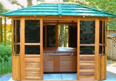 New York Hot Tub Enclosure Gazebo 10 X 12