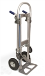 New 2 IN 1 Hand Truck Platform Dolly Cart Aluminum 660lb Capacity Commercial Quality