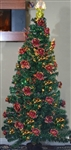 High Quality 6' Artificial Pre-Lit Christmas Tree with Angel Tree Topper and Fiber Flowers