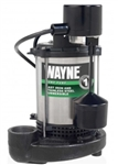 1/2 HP Stainless Steel & Cast Iron Sump Pump w/ Vertical Float Switch