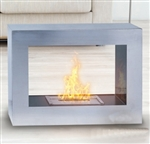 Silver Window Flame Fireplace