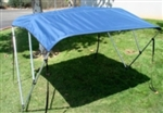 Navy Blue 3-Bow Frame Boat Cover