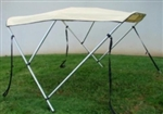 Beige 3-Bow Frame Boat Cover
