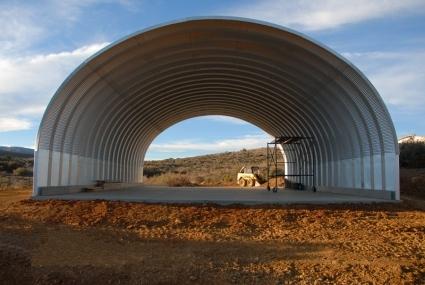 20 x 20 x 14 prefab metal arch cover garage storage building