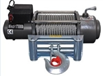 Industrial 17500 12v Remote Control Electric Winch