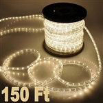 High Quality 150' Warm White 2 Wire Home Outdoor 110V Led Rope Light