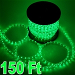 150' Green Led Outdoor/Indoor Decorative Rope Light
