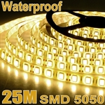 5x 5M 5050 SMD 300 LED Warm White Waterproof Strip Light+Remote Control