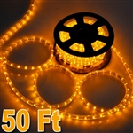High Quality 50' Yellow Led Outdoor Rope Light 1/2 Inch Tube 120V