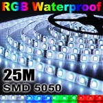 5x 5M 5050 SMD 300 LED RGB Waterproof Strip Light+Remote Control