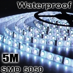 50M Waterproof 300LED/5M SMD 5050 12V Cool White Flexible Strip Lights