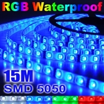 3x 5M 5050 SMD 300 LED RGB Waterproof Strip Light+Remote Control