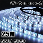 5x 5M 5050 SMD 300 LED Cool White Waterproof Strip Light+Remote Control
