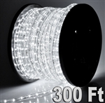 2 150' Cool White LED Rope Light 2 Wire Decorative Home Cuttable Tube Lighting