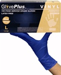 Glove Plus Powdered Blue Vinyl Gloves