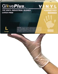Glove Plus Powder Free Vinyl Gloves