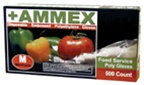 Ammex Food Service Poly Gloves