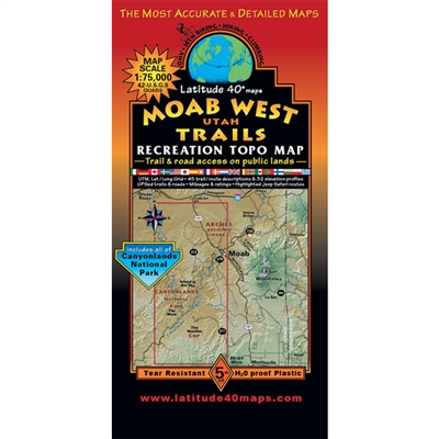 Moab West Map