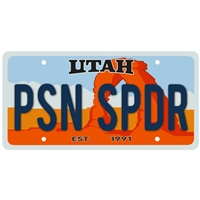 Sticker - Moab Utah License Plate- PSN SPDR