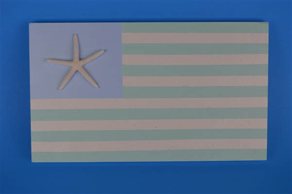 Small Coastal Flag with starfish 11 inches x 6.5 inches