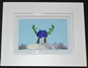 9.0 x 7.0in Blue and green Seaglass crab