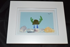 7 x 9in Seaglass crab