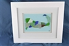 Seaglass map of Cape Cod, MA framed 10in x 12in